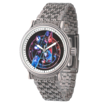 Avengers Mens Silver Tone Bracelet Watch-Wma000254