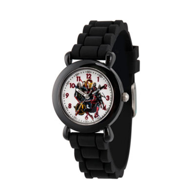 Avengers Avengers Boys Black Strap Watch-Wma000259
