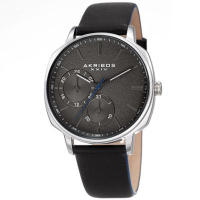 Akribos XXIV Mens Black Bracelet Watch-A-1022ssbk