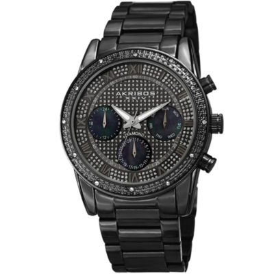 Akribos XXIV Mens Black Strap Watch-A-1040bk
