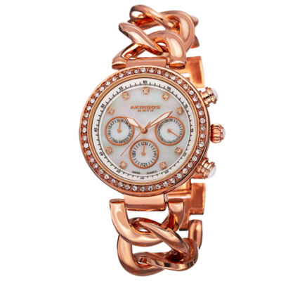 Akribos XXIV Womens Rose Goldtone Strap Watch-A-640rg