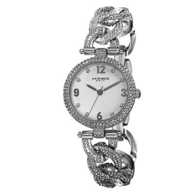 Akribos XXIV Womens Silver Tone Strap Watch-A-756ss