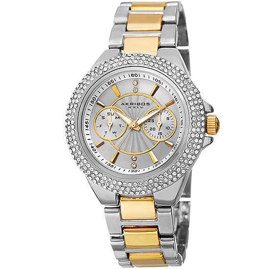Akribos Xxiv Womens Two Tone Strap Watch A 789ttg