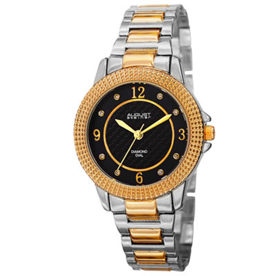 August Steiner Womens Two Tone Strap Watch-As-8154ttg