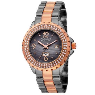 August Steiner Womens Two Tone Bracelet Watch-As-8156ttr