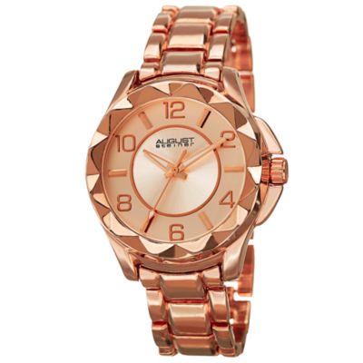 August Steiner Womens Rose Goldtone Strap Watch-As-8159rg