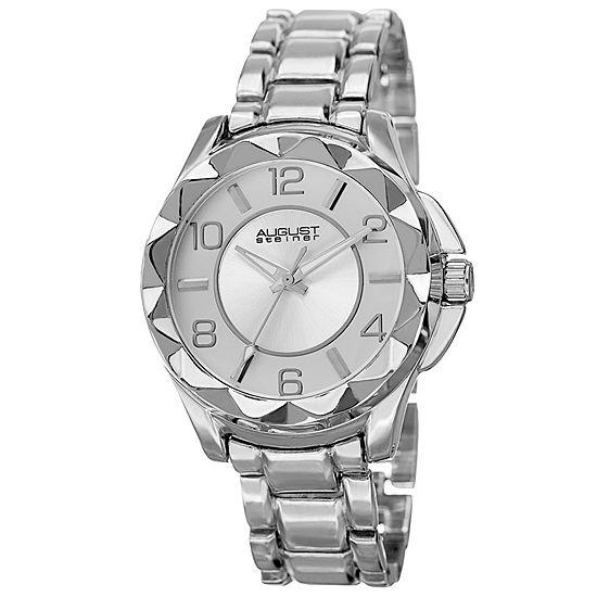 August Steiner Womens Silver Tone Strap Watch-As-8159ss
