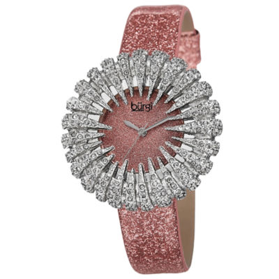 Burgi Womens Pink Strap Watch-B-112lp