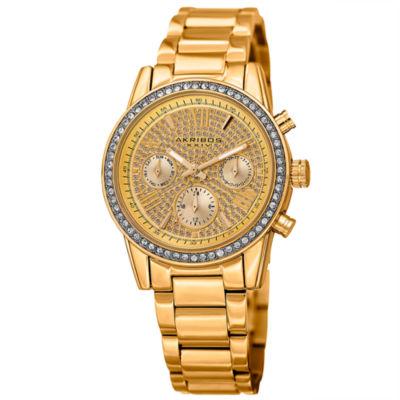 Akribos XXIV Womens Gold Tone Bracelet Watch-A-926yg