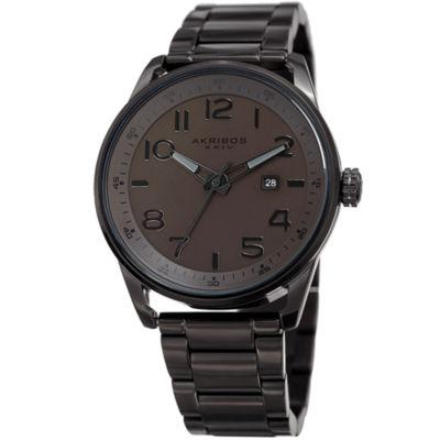 Akribos XXIV Mens Black Strap Watch-A-956br