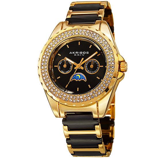 Akribos XXIV Womens Two Tone Strap Watch-A-961ygb