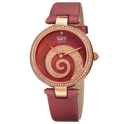 Burgi Womens Red Strap Watch-B-143bur