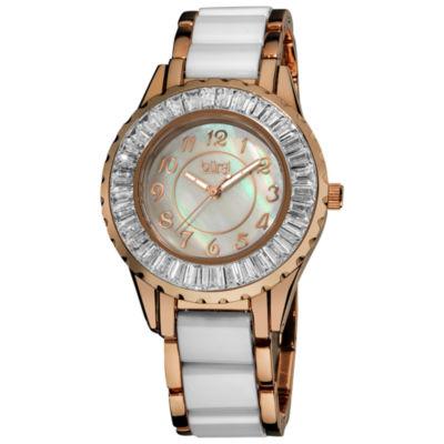 Burgi Womens Two Tone Strap Watch-B-066wtr