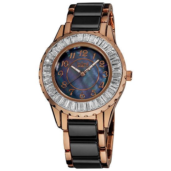 2731329dd Burgi Womens Two Tone Strap Watch B 066bkr JCPenney