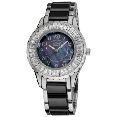 Burgi Womens Two Tone Strap Watch-B-066bk