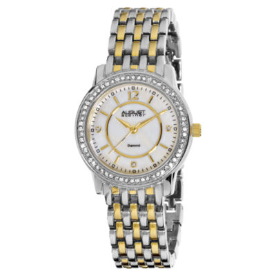 August Steiner Womens Two Tone Strap Watch-As-8027ttg