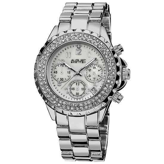 August Steiner Womens Silver Tone Strap Watch-As-8031ss