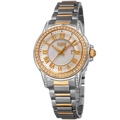 Burgi Womens Two Tone Strap Watch-B-168ttg