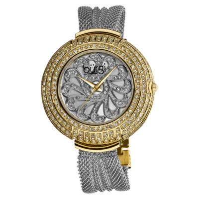 Burgi Womens Two Tone Strap Watch-B-051ttg