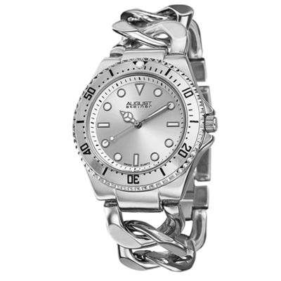 August Steiner Womens Silver Tone Strap Watch-As-8079ss