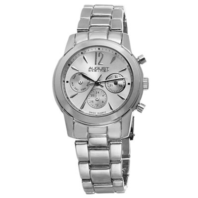 August Steiner Womens Silver Tone Strap Watch-As-8087ss