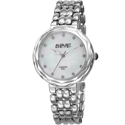 August Steiner Womens Silver Tone Strap Watch-As-8248ss
