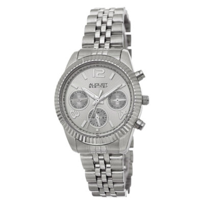 August Steiner Womens Silver Tone Strap Watch-As-8103ss