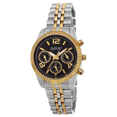 August Steiner Womens Two Tone Strap Watch-As-8103ttgb