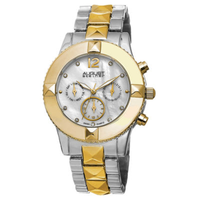 August Steiner Womens Two Tone Strap Watch-As-8107ttg