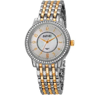 August Steiner Womens Two Tone Bracelet Watch-As-8246ttg