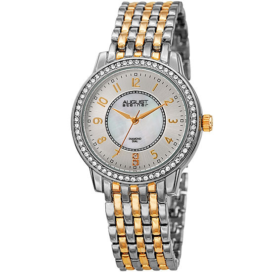 August Steiner Womens Two Tone Bracelet Watch-As-8246ttg