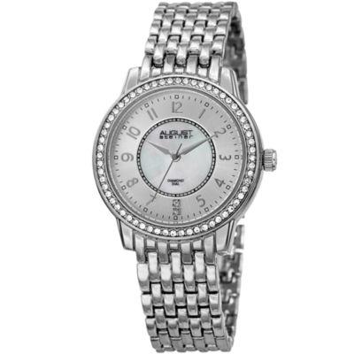 August Steiner Womens Silver Tone Strap Watch-As-8246ss