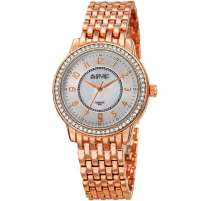 August Steiner Womens Rose Goldtone Strap Watch-As-8246rg