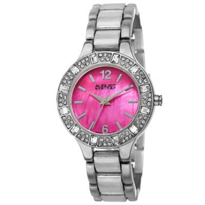 August Steiner Womens Silver Tone Strap Watch-As-8135sspk