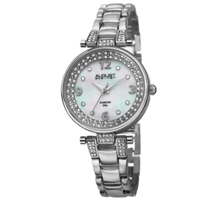 August Steiner Womens Silver Tone Strap Watch-As-8137ss