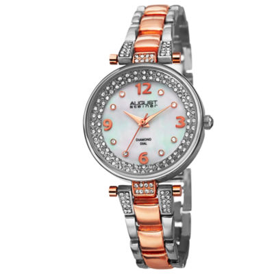 August Steiner Womens Two Tone Strap Watch-As-8137ttr