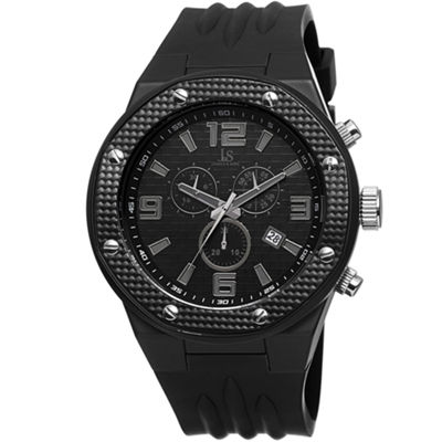 Joshua & Sons Mens Black Strap Watch-J-62bk