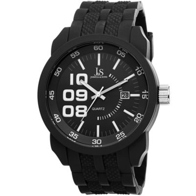Joshua & Sons Mens Black Strap Watch-J-63bk
