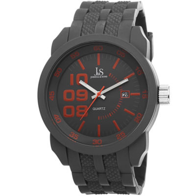Joshua & Sons Mens Gray Strap Watch-J-63gy