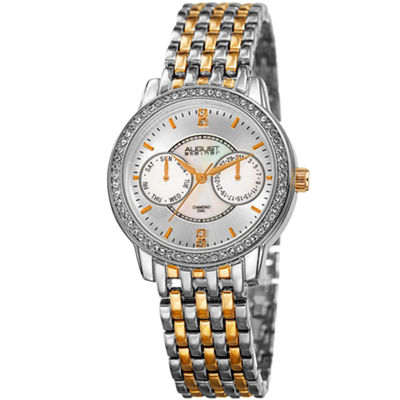August Steiner Womens Two Tone Strap Watch-As-8228ttg