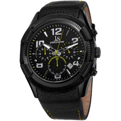 Joshua & Sons Mens Black Strap Watch-J-69yl