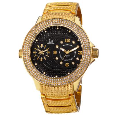 Joshua & Sons Mens Gold Tone Strap Watch-J-80ygbk