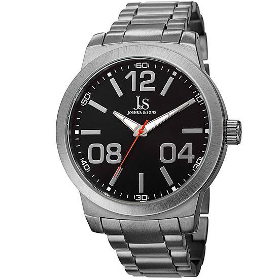 Joshua & Sons Mens Black Strap Watch-J-82bk