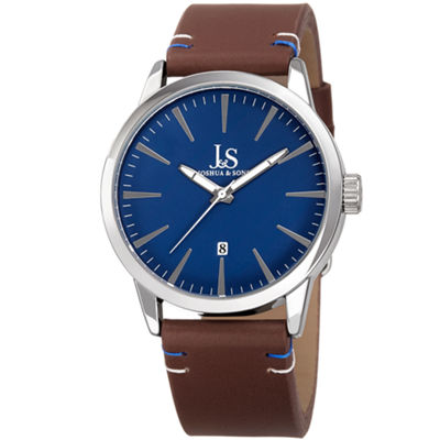 Joshua & Sons Mens Brown Strap Watch-J-86ssbu