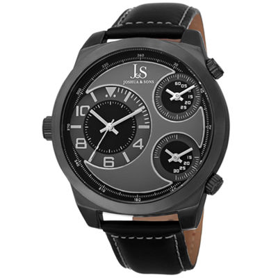Joshua & Sons Mens Black Strap Watch-J-88bk