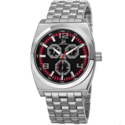 Joshua & Sons Mens Silver Tone Strap Watch-J-93rd