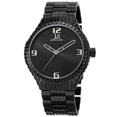 Joshua & Sons Mens Black Strap Watch-J-99bk