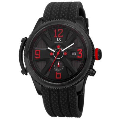 Joshua & Sons Mens Black Strap Watch-J-101bk