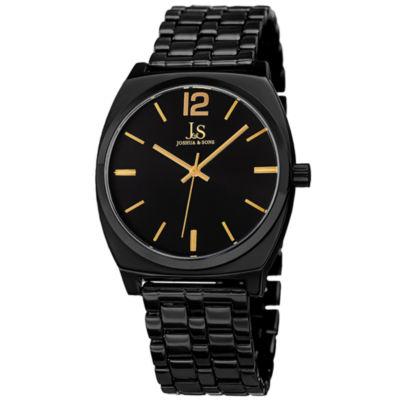 Joshua & Sons Mens Black Strap Watch-J-102bkg