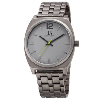 Joshua & Sons Mens Gray Strap Watch-J-102gy